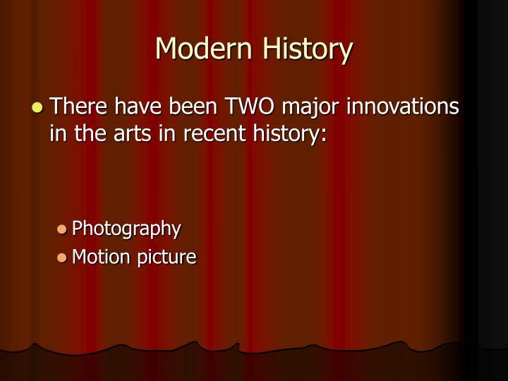 Modern history