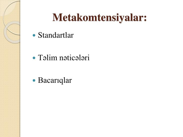 Metakomtensiyalar