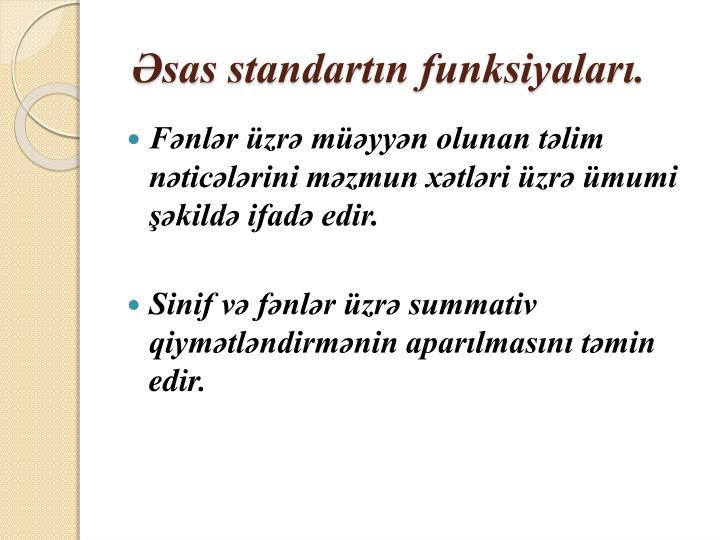 Sas standart n funksiyalar