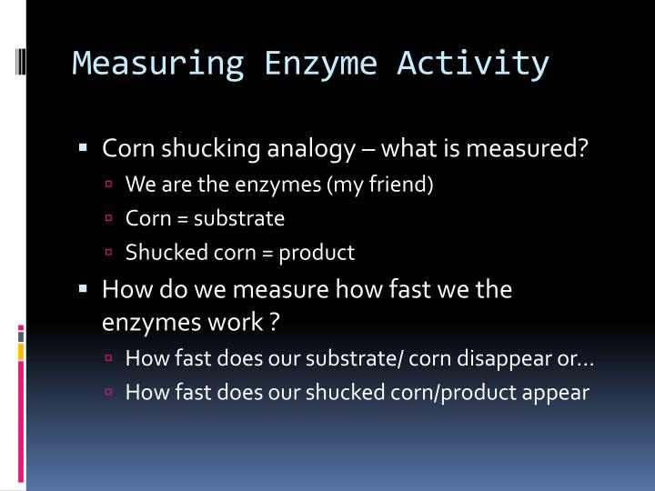 Measuring Enzyme Activity