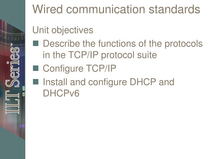 wired communication standards n.