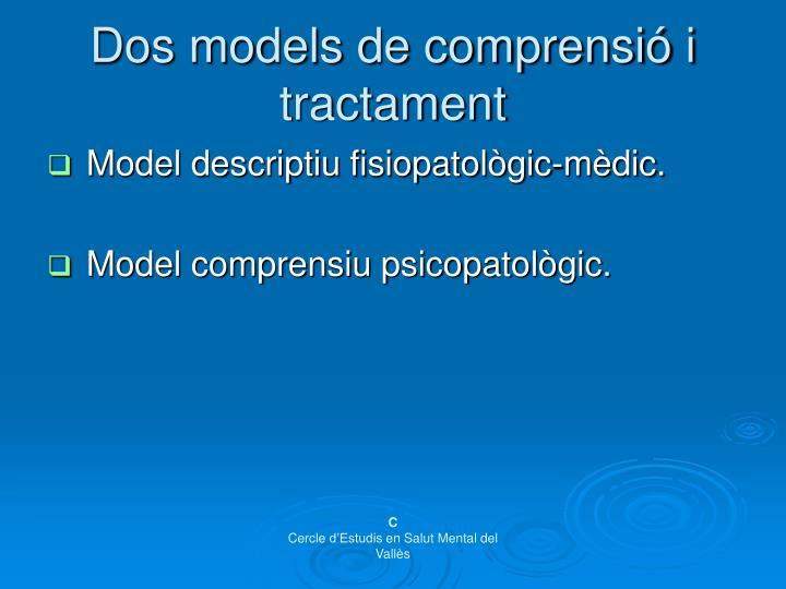 Dos models de comprensió i tractament