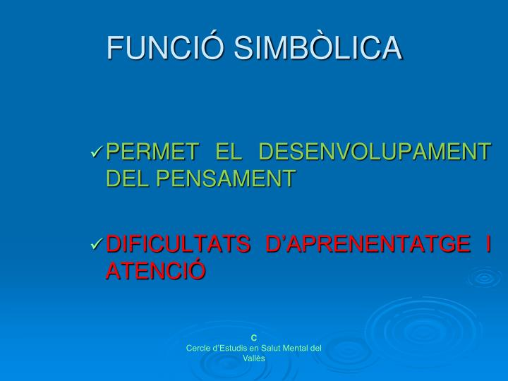 FUNCIÓ SIMBÒLICA