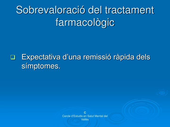 Sobrevaloració del tractament farmacològic