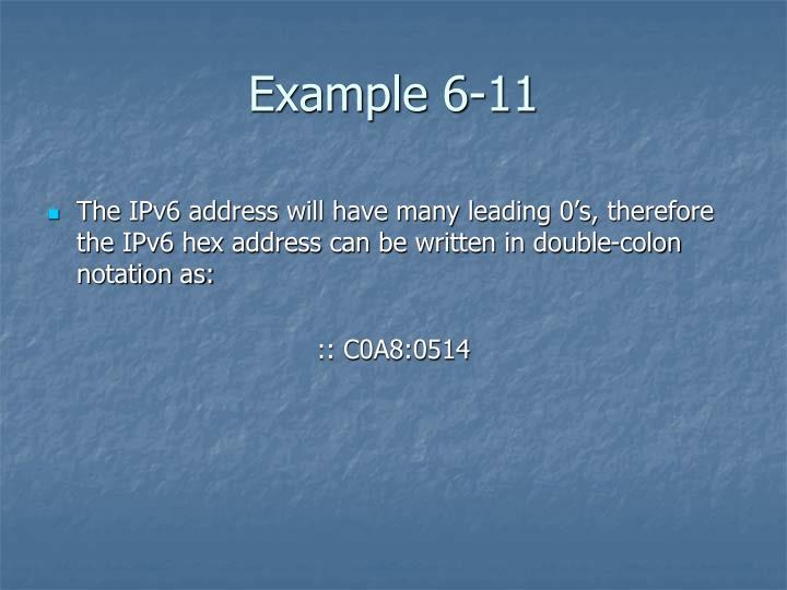 Example 6-11