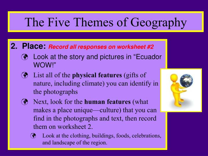 Ppt Geography More Than Meets The Eye Powerpoint Presentation. The Five Themes Of Geography. Worksheet. The Five Themes Of Geography Worksheet At Mspartners.co