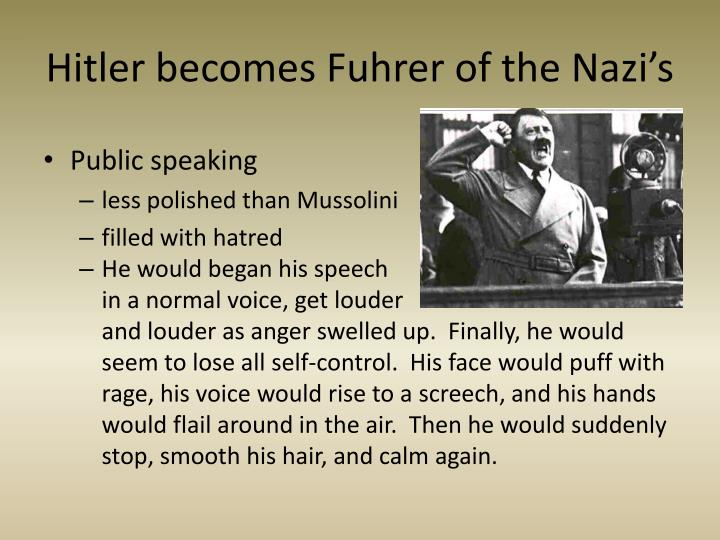 the life and rise to power of adolf hitler fuhrer of the nazi germany The fuhrer: hitler's rise to power paperback – october 14, 1999  the rise and  fall of the third reich: a history of nazi germany  (for example, his frivolously  speculative sections on der führer's sex life -- a perennial favorite of  i found  the format to be a little unusual in that it is a biography of adolf hitler expanded to .