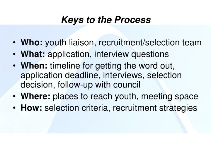 Keys to the Process