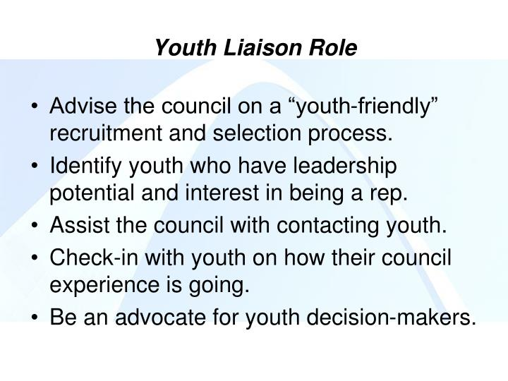 Youth Liaison Role