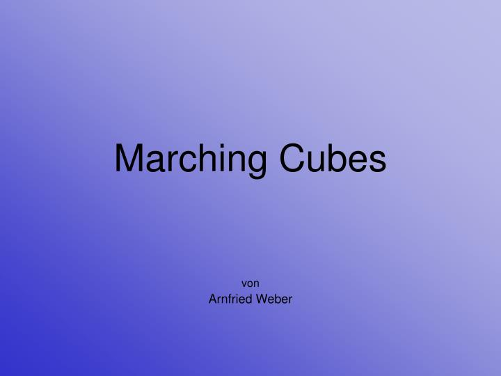 marching cubes n.