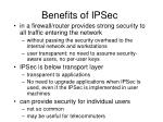 benefits of ipsec