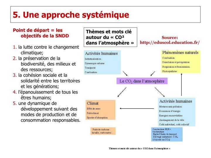 5. Une approche systémique