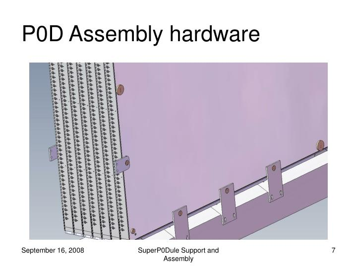 P0D Assembly hardware