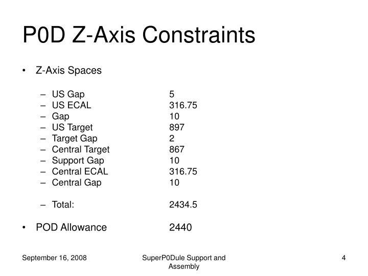 P0D Z-Axis Constraints