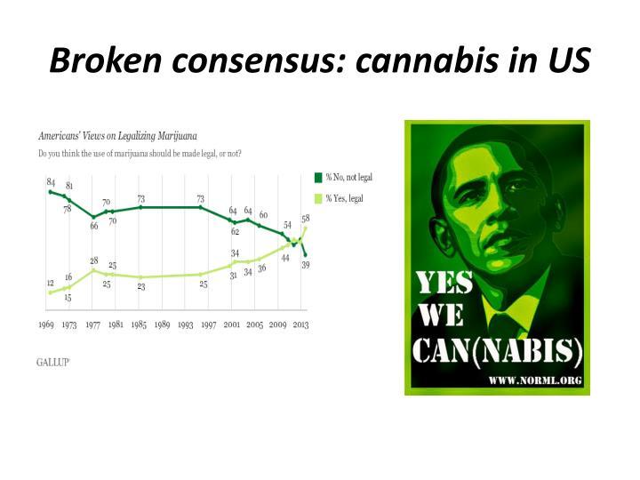 Broken consensus: cannabis in US
