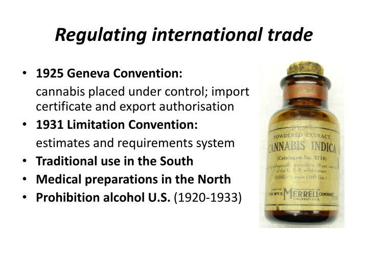 Regulating international trade