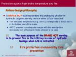protection against high brake temperature and fire1