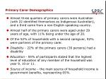 primary carer demographics