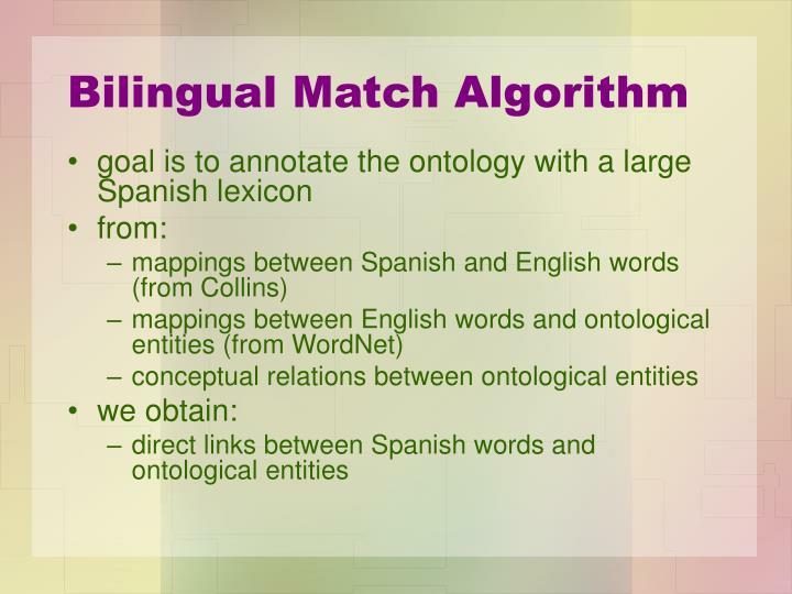 Bilingual Match Algorithm