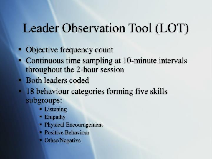 Leader Observation Tool (LOT)