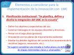 elementos a considerar para la implementaci n de la innovaci n con lmc