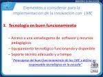 elementos a considerar para la implementaci n de la innovaci n con lmc2