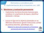 elementos a considerar para la implementaci n de la innovaci n con lmc4