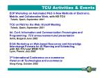 tcu activities events