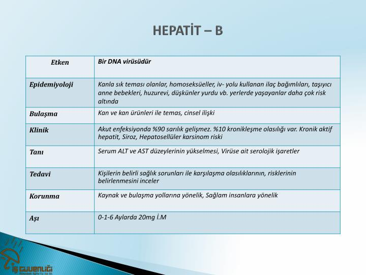 HEPATİT – B