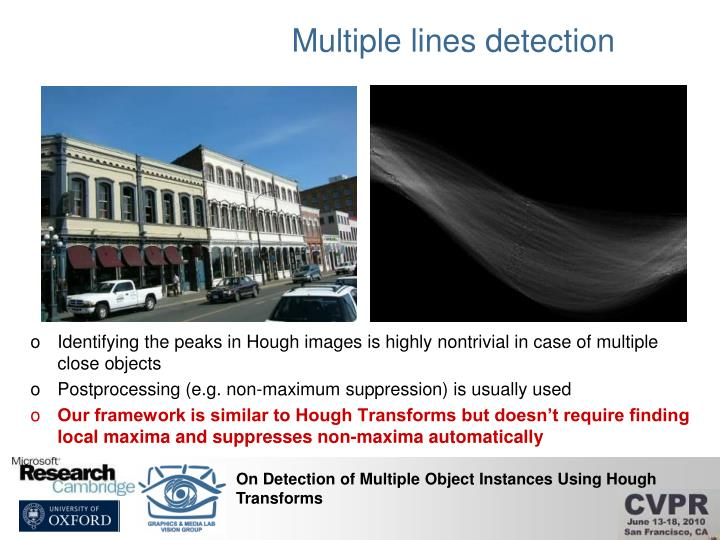 Multiple lines detection