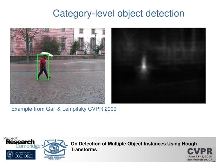 Category-level object detection