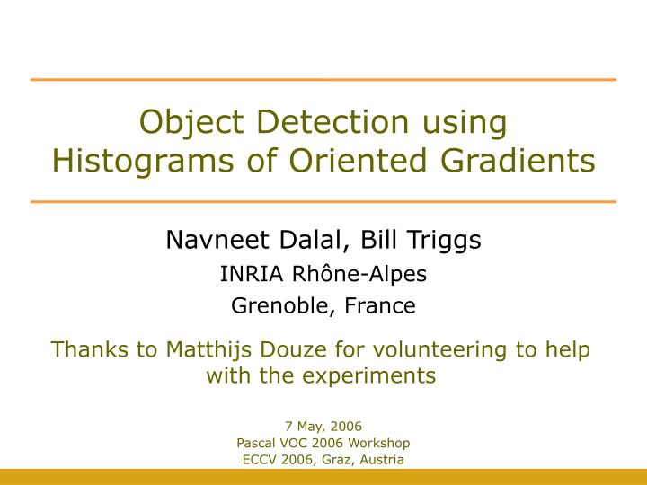 object detection using histograms of oriented gradients n.