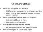 christ and qohelet