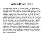 william brown cont
