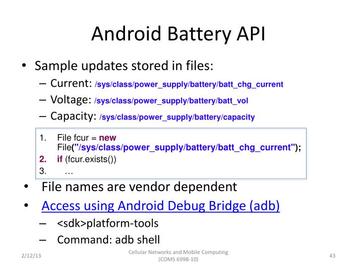 Android Battery API
