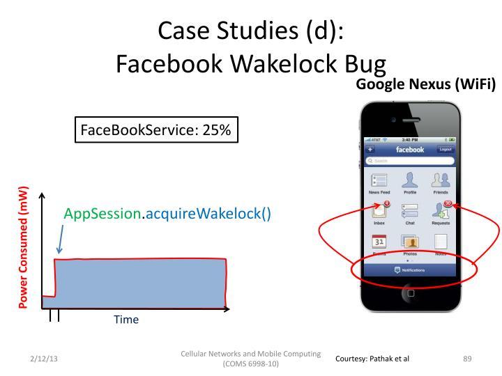 Case Studies (d):