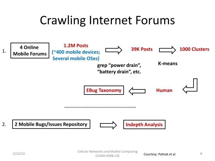 Crawling Internet Forums