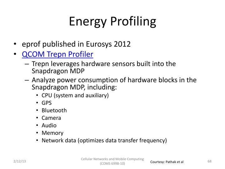 Energy Profiling