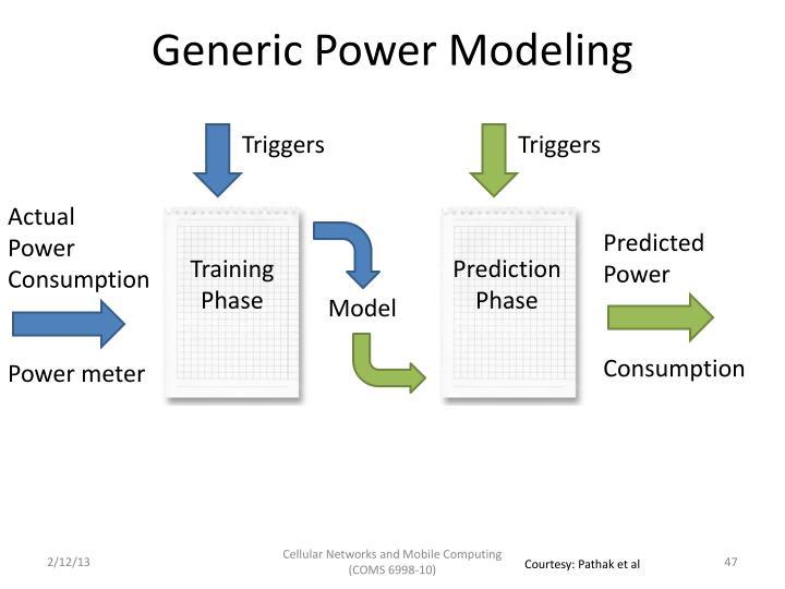Generic Power Modeling