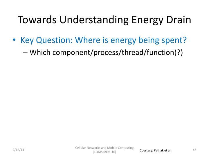 Towards Understanding Energy Drain