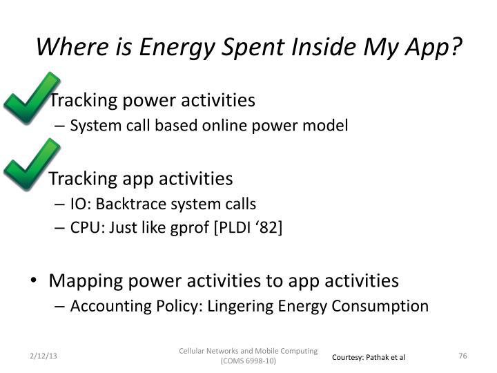 Where is Energy Spent Inside My App?