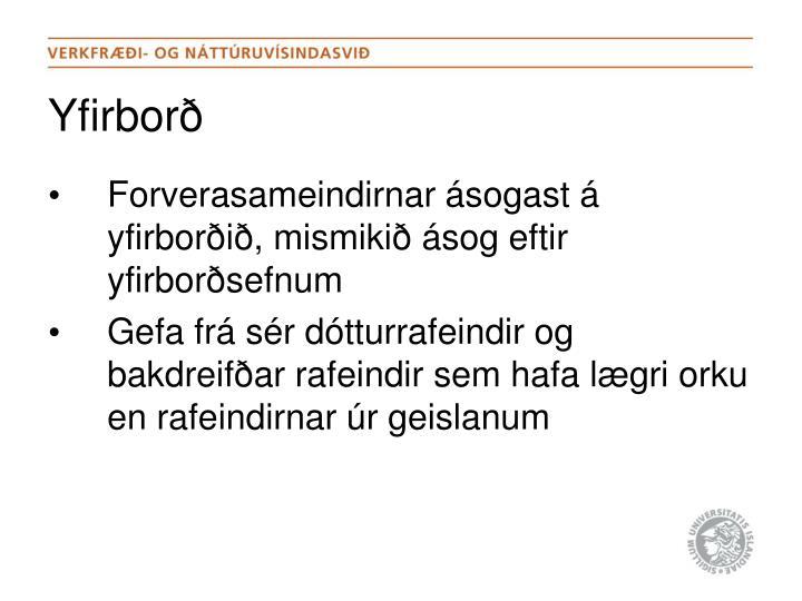 Yfirborð
