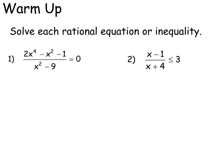 explain the five steps for solving rational equations Get an answer for 'explain the five-steps for solving rational equations can any of these steps be eliminated explain the five-steps for solving rational equations.
