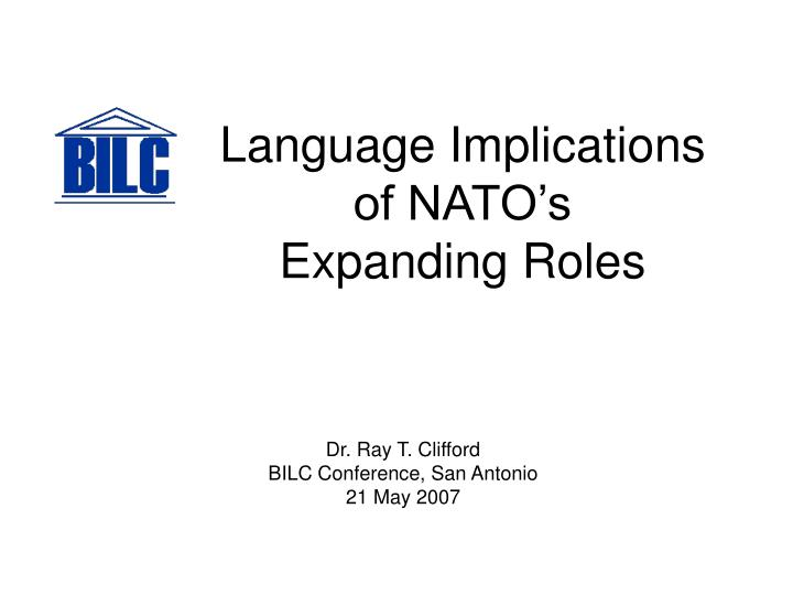 language implications of nato s expanding roles n.