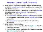 research issues mesh networks