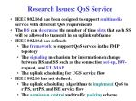 research issues qos service