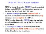 wimax mac layer features1