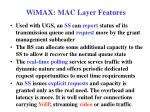 wimax mac layer features4