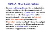 wimax mac layer features5