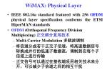 wimax physical layer1